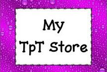 My TpT Store / Take a look at this board for some great ideas and products as well as FREEBIES for your classroom!