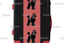 Artisan Abigail Luggage / Includes custom luggage tags and suitcases in a variety of sizes and color options at my Zazzle shop! Artwork © Abigail Davidson.