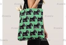 Artisan Abigail Accessory Bags / Includes my original designs and artwork on tote bags, cosmetic bags, clutches, wristlets, travel bags, drawstring backpacks, and more at Zazzle! © Abigail Davidson Art