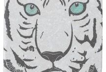 Artisan Abigail Coasters / Includes my original artwork on coasters at Zazzle! © Abigail Davidson Art