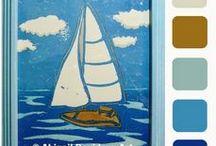 Color Palettes: My Art / © Abigail Davidson Art -- Includes my original artwork with color palettes!
