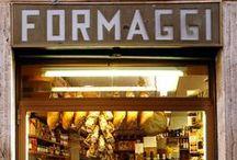 Quesos Italianos. Al Dente Bilbao. / Quesos italianos y platos con quesos. Tienda delicatessen Italiana en Bilbao.