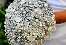 Dazzling Bouquets / A little bit of sparkle for your bouquet. After all.. we do love jewelry!