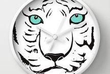 Society6: My Wall Clock Designs / All Designs © Abigail Davidson -- Includes my original designs at Society6!