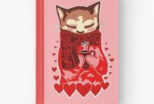 Redbubble: My Notebook and Journal Designs / All Designs © Abigail Davidson -- Includes my original art designs on notebooks and journals at Redbubble