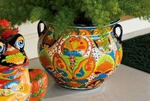Our Talavera Pots / Here are styles of Talavera Mexican Pottery & other items that we sell on our website.  Check us out at www.ArizonaPottery.com  Imported Directly from Mexico!