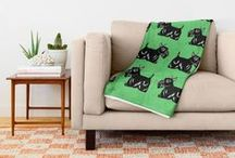 Society6: Mixed Home Decor Designs / All Artworks © Abigail Davidson -- Includes my original designs on throw blankets, comforters, duvet covers, rugs, and window curtains at Society6!