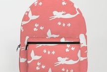Society6: My Accessory Designs / All Designs © Abigail Davidson -- Includes my original designs on tote bags, backpacks, and carry-all pouches at Society6!