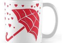 Redbubble: My Mug Designs / All Designs © Abigail Davidson -- Includes my original art designs on mugs at Redbubble!