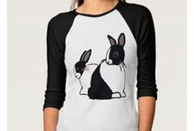 Artisan Abigail Clothing Designs: Rabbits & Squirrels / Includes my original art designs on women's clothing at Zazzle. © Abigail Davidson -- Thank you for visiting!