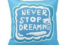 Artisan Abigail Pillows: Typography / Includes my original typography pillow designs on Zazzle! © Abigail Davidson