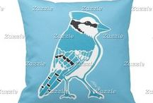 Artisan Abigail Pillows: Birds / Includes my original pillow designs on Zazzle! © Abigail Davidson