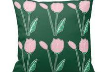 Artisan Abigail Pillows: Floral & Nature / Includes my original pillow designs on Zazzle! © Abigail Davidson