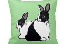 Artisan Abigail Pillows: Mixed Animals / Includes my original pillow designs on Zazzle! © Abigail Davidson