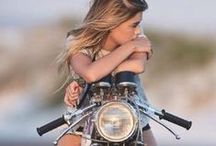 Girls / Lovely girls with beautiful motorbikes