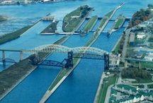 Soo Locks in Downtown Sault Ste. Marie, MI / by Sault Ste. Marie Convention & Visitors Bureau