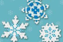 Hama beeds - snowflakes