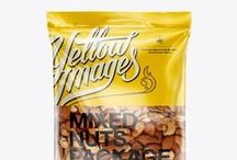 Snack Mockups / High-quality mockups for snack packaging: chips, popcorn, cookies, nuts, fast food, chocolate, ice cream etc. Choose one that suits you best.