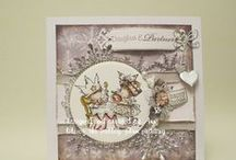 lili of the valley christmas cards / various cards and projects using the adorable lili of the valley stamps and art pads