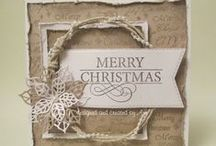 christmas cards by Ann / christmas projects using various dies and justrite stamps