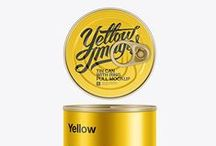 Food Tins & Cans Mockups / Food tins & cans for fish, meat, beans etc. Different types and sizes. High-class quality.