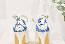 Heels. / Bespoke Handpainted wedding shoes for the unique bride
