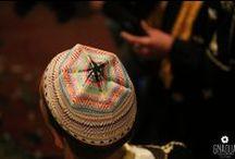 Gnaoua Hats / Collection de bonnets portés par des koyos (Danseurs Gnaoua) lors d'une lila à Casablanca.