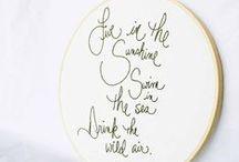 Embroidery Hoop / by Melanie Looh