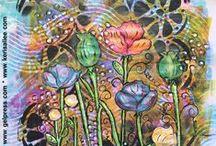 Gel Press® Art Journals / Creative Art Journal Pages Using Gel Press® Monoprinting Art Products