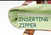 Inserting zipper