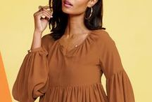 boho chic / From long, crochet skirts to flowing peasant blouses, the Boho look is a feminine style winner. Unleash your free spirit with these romantic, easy-to-wear pieces!