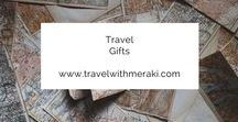 Travel Gifts / The perfect travel gifts and presents for people that love to travel.