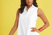 april: white / Nothing beats the clean, crisp style of an all-white outfit. That's why White is our April Color of the Month. It's instantly chic and oh-so-easy to pair with your favorite tops or bottoms, so you can dress it up or dress it down in a snap. And best of all, it's the perfect go-to color because white looks amazing on everyone!