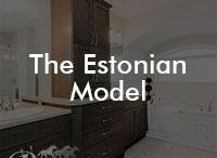The Estonian Model / Our Estonian floor plan; 1858 square feet, front attached garage, 3 bedrooms
