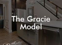 The Gracie Model / Our Gracie floor model; 2409 square feet, front attached garage, 3 bedrooms