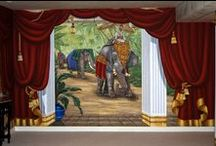 Indian Palace Mural in a Home Theater by Tom Taylor of Wow Effects, in Maryland / Indian Palace Wall Mural in a Home Theater by Tom Taylor of Wow Effects, hand-painted in Maryland.