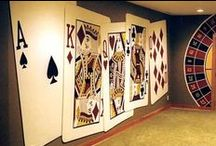 Casino Wall Murals by Tom Taylor of Wow Effects, in a Minnesota home. / Casino Wall Murals by Tom Taylor of Wow Effects, hand-painted in Minnesota.