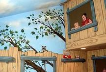 Tree House Bedroom Wall Murals by Tom Taylor of Wow Effects, hand-painted in Minnesota / Tree House Bedroom Wall Murals by Tom Taylor of Wow Effects, hand-painted in Minnesota