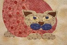 Mijn eigen  gemaakte patchwork. / Op dit bord staat alleen mijn eigen patchwork.