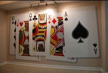 Poker Playing Cards Mural and Monopoly Wall Mural by Tom Taylor of Wow Effects / Poker Playing Cards Mural and Monopoly Wall Mural by Tom Taylor of Wow Effects, hand painted in a lower level-game room in Clinton, Maryland.