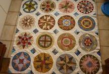 Camelot quilt. / Ik ben de Camelot quilt aan het maken maar wel met mijn eigen kleuren keuzen.het zijn  16 blokken.