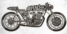 Motorcycles / Motorcycle art and illustration