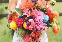 WEDDING vibrant flowers