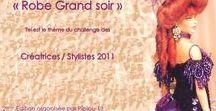 """Barbie 2011 : Robes """"Grand soir"""" / Dans cet album j'ai regroupé les créations de chacune des participantes inscrites au défi des stylistes que je lance chaque année.Cette année le thème était : Robes grand soir"""
