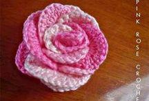 Fleurs au crochet,tricot ou autre / Créer des fleurs en qualités diverses