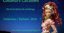 Barbie  2016 : Couleur Caraïbes / Dans cet album j'ai regroupé les créations de chacune des participantes inscrites au défi des stylistes que je lance chaque année.Cette année le thème était : Élégante en couleurs Caraïbes