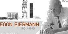 INSPIRATION egon eiermann / Egon Eiermann (29 September 1904 – 20 July 1970) was one of Germany's most prominent architects in the second half of the 20th century.