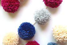 Pom Pom Love / DIY pom pom craft ideas!  All types of pom pom crafts - these little puffs are too cute!