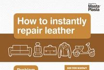 Repaired Leather Items / Here are some before and after pictures of customers using MastaPlasta to repair their leather items. Sofas, chairs, seats, bags, desks, vehicles.  Fixes Leather, Synthetic leather and vinyl surfaces.  #leatherrepair #diy #diyhacks #householdhacks #leathercare #howtofixleather #tipsathome #furniturecare #housekeeping