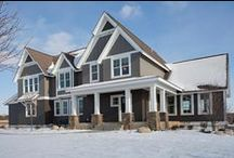 Stockton Style Model Home / Aerial view of Crestmore model home.